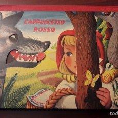 Libros de segunda mano: CUENTO CAPPUCCETTO ROSSO-DIORAMA-EN ITALIANO CINO DEL DUCA EDITORE 1960 ARTIA PRAGA-7 HOJAS-20X26. Lote 56856629