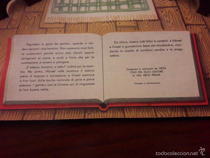 Libros de segunda mano: CUENTO HANSEL E GRETEL-DIORAMA-EN ITALIANO-CINO DEL CUCA EDITORE 1960 ARTIA PRAGA-7 HOJAS-20X26 - Foto 11 - 56857093