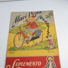 Libros de segunda mano: MARI-PEPA DEPORTISTA - MARIA CLARET & EMILIA COTARELO - CON RECORTABLE - COMPLETO. Lote 56554262