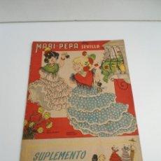 Libros de segunda mano: MARI-PEPA EN SEVILLA - MARIA CLARET & EMILIA COTARELO - CON RECORTABLE - COMPLETO. Lote 56554377