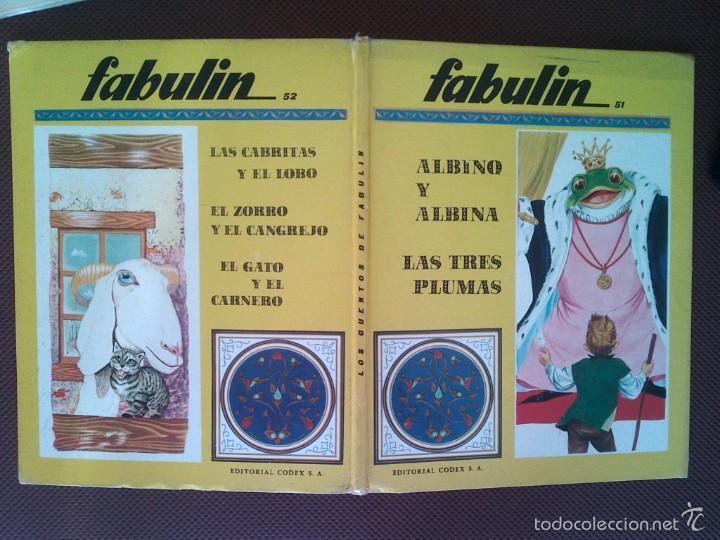 LIBRO COLECCION FABULIN CODEX 51/52 600 GRS 31X25 CMS (Libros de Segunda Mano - Literatura Infantil y Juvenil - Cuentos)