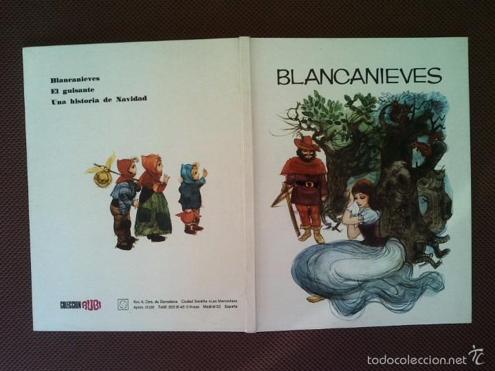 LIBRO CUENTOS BLANCANIEVES COLECCION RUBI 1970 29X22 CMS 450 GRS (Libros de Segunda Mano - Literatura Infantil y Juvenil - Cuentos)