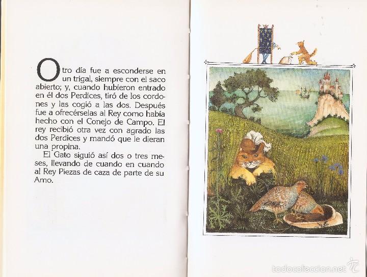 Libros de segunda mano: EL GATO CON BOTAS - CHARLES PERRAULT y MIJAIL FIÓDOROV - EDT. ANAYA, 1ª Ed. 1988. - Foto 4 - 57534379