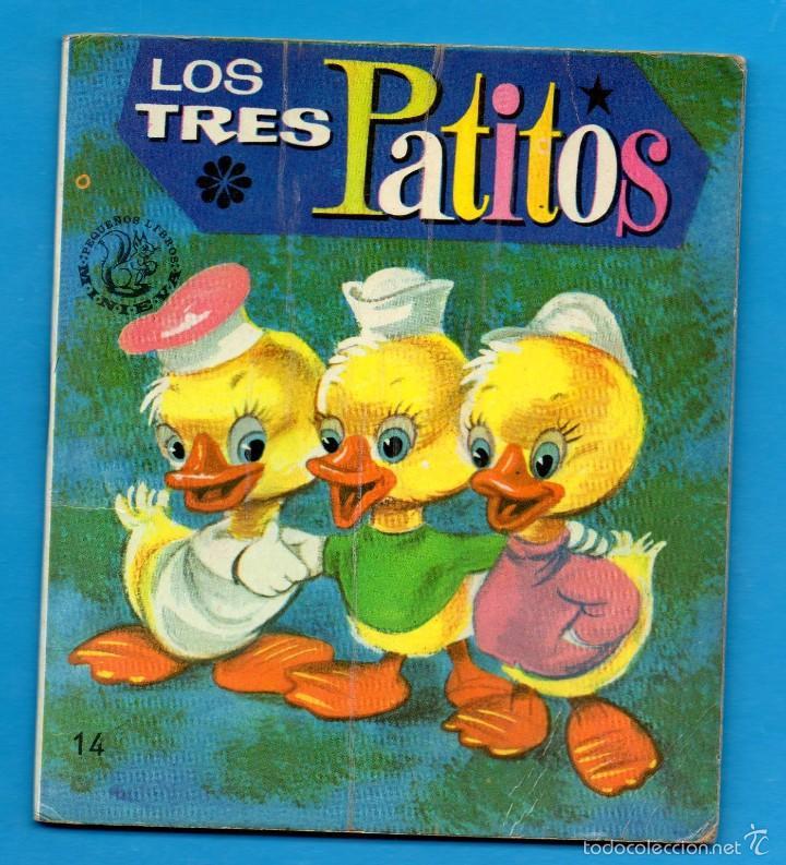 PEQUEÑOS LIBROS LIBRITOS - COL. MINIEVA MINI-EVA ED. VASCO AMERICANA - LOS TRES PATITOS Nº14 - 1974 (Libros de Segunda Mano - Literatura Infantil y Juvenil - Cuentos)