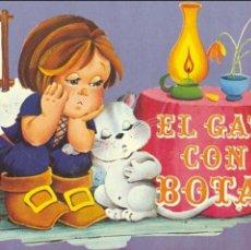 Libros de segunda mano: EL GATO CON BOTAS. LIBRO POP UP. DIBUJOS DE MAGDA. TRES ESCENAS. Lote 58157237