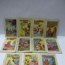 Libros de segunda mano: LOTE DE ONCE CUENTOS DE EDITORIAL BRUGUERA,AÑOS 60,ORIGINALES,MUY BUEN ESTADO,VER LA FOTO. Lote 58198496