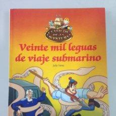 Libros de segunda mano: LIBRO,3 VEINTE MIL LEGUAS DE VIAJE SUBMARINO, JULIO VERNE, CLASICOS DE LA AVENTURA, PLANETA-AGOSTINI. Lote 58248632