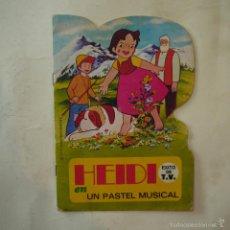 Libros de segunda mano: HEIDI EN UN PASTEL MUSICAL - EDITORIAL BRUGUERA - 1975. Lote 58269341