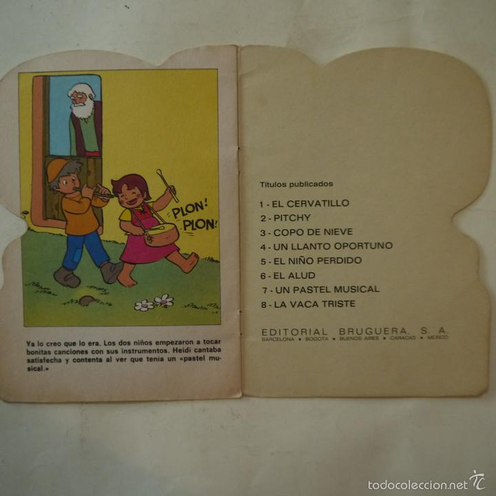Libros de segunda mano: HEIDI EN UN PASTEL MUSICAL - EDITORIAL BRUGUERA - 1975 - Foto 4 - 58269341