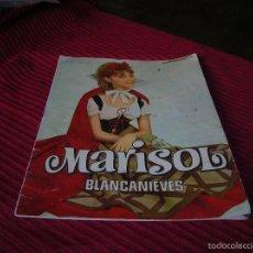 Libros de segunda mano: MARISOL.BLANCANIEVES,AÑO 1963. Lote 58602775