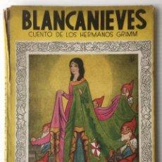 Libros de segunda mano: BLANCANIEVES. HERMANOS GRIMM. EDITORIAL MOLINO, 1941. MIS PRIMEROS CUENTOS.. Lote 59071960