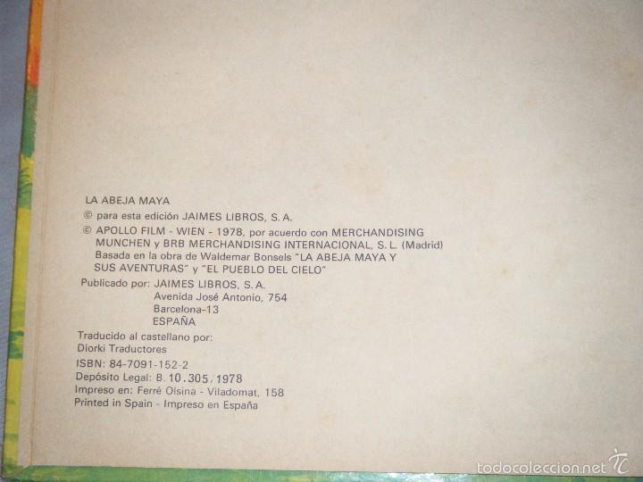 Libros de segunda mano: LA ABEJA MAYA. EDITADO POR JAIME LIBROS,SA. 1978 - Foto 2 - 60002751