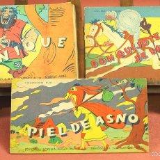 Libros de segunda mano: LP-302 - COLECCIÓN RUBI. 3 EJEMPLARES(VER DESCRIP). VV. AA. EDIT SOPENA ARGENTINA. 1944.. Lote 61254575