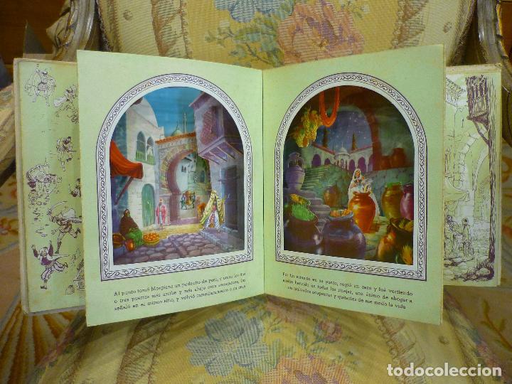 Libros de segunda mano: COLECCIÓN TEATRINES: ALÍ-BABÁ Y LOS CUARENTA LADRONES. DESPLEGABLE EN TRES DIMENSIONES. 1.951. - Foto 4 - 62673688