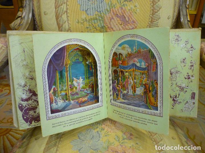 Libros de segunda mano: COLECCIÓN TEATRINES: ALÍ-BABÁ Y LOS CUARENTA LADRONES. DESPLEGABLE EN TRES DIMENSIONES. 1.951. - Foto 5 - 62673688
