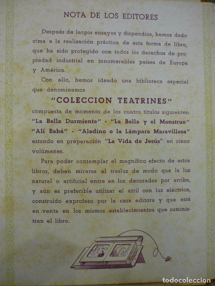 Libros de segunda mano: COLECCIÓN TEATRINES: ALÍ-BABÁ Y LOS CUARENTA LADRONES. DESPLEGABLE EN TRES DIMENSIONES. 1.951. - Foto 6 - 62673688