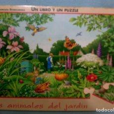 Libros de segunda mano: LIBRO-PUZZLE LOS ANIMALES DEL JARDÍN. Lote 64884395
