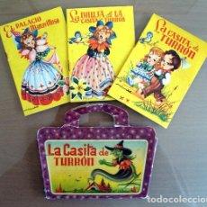 Libros de segunda mano: CUENTO LA CASITA DE TURRON. MALETIN Y 3 CUENTOS. EDITORIAL ROMA DE LOS 60. VER FOTOS. Lote 67242025