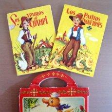 Libros de segunda mano: CUENTO EL PATITO FEO. MALETIN Y 2 CUENTOS. EDITORIAL ROMA DE LOS 60. VER FOTOS. Lote 67242701