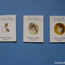 Libros de segunda mano: LOTE 3 CUENTOS BEATRIX POTTER (DEBATE - 1992) ¡COLECCIONISTA!. Lote 106666283