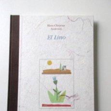 Libros de segunda mano: AUTÉNTICA JOYA, CUENTO EL LINO, DE ANDERSEN, FABRICADO EN LINO, LIBRO DE ARTISTA INFANTIL, VER FOTOS. Lote 69018461
