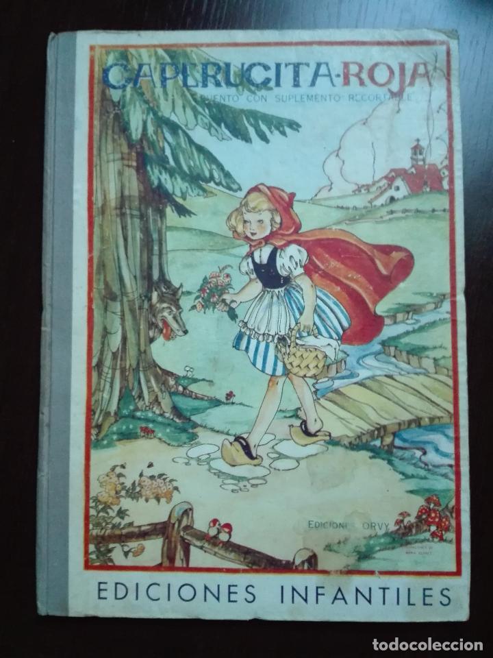 CAPERUCITA ROJA - CUENTO CON SUPLEMENTOS RECORTABLES - EDICIONES ORVY - ILUSTR. MARIA CLARET - (Libros de Segunda Mano - Literatura Infantil y Juvenil - Cuentos)