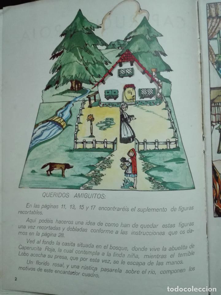 Libros de segunda mano: CAPERUCITA ROJA - CUENTO CON SUPLEMENTOS RECORTABLES - EDICIONES ORVY - ILUSTR. MARIA CLARET - - Foto 3 - 69547049