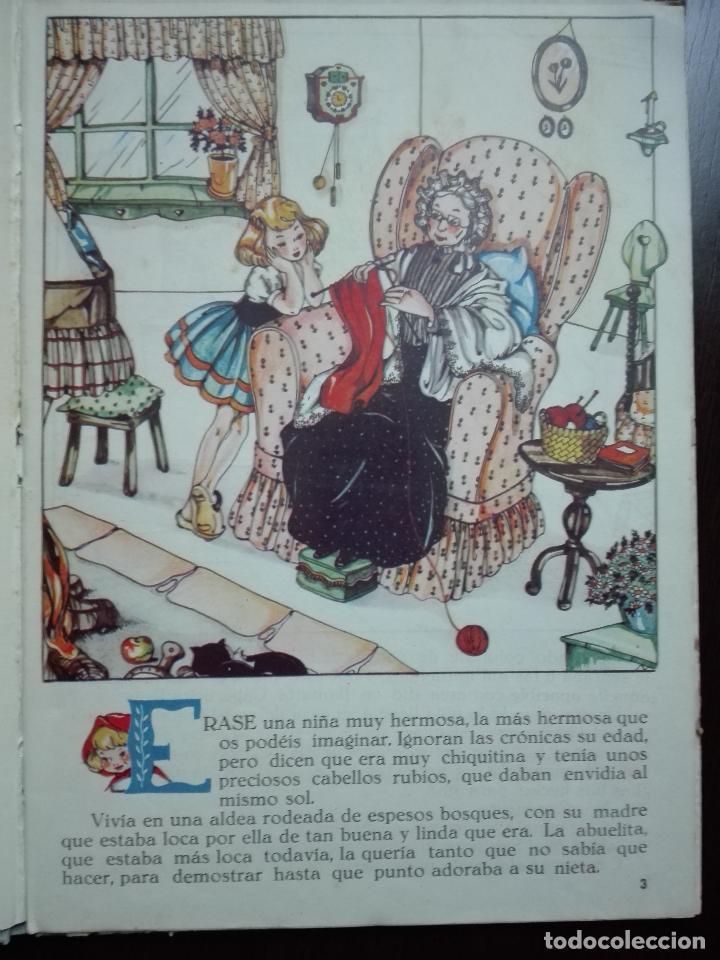 Libros de segunda mano: CAPERUCITA ROJA - CUENTO CON SUPLEMENTOS RECORTABLES - EDICIONES ORVY - ILUSTR. MARIA CLARET - - Foto 4 - 69547049