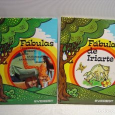 Libros de segunda mano: FABULAS ESOPO FEDRO SAMANIEGO LAFONTAINE IRIARTE - EVEREST - LOTE DE DOS LIBROS. Lote 69562821