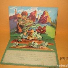 Libros de segunda mano: ANTIGUO PULGARCITO 2ª PARTE 7 DIORAMAS 3-D POP UP BIBLIOTECA DIORAMICA COLECCIÓN FONORAMA - AÑO 1951. Lote 72173367