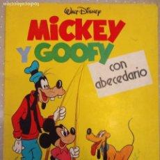 Libros de segunda mano: MICKEY Y GOOFY CON ABECEDARIO DESPEGABLE WALT DISNEY PRODUCTIONS 81 GRAFICAS COBAS UNICO. Lote 72793011
