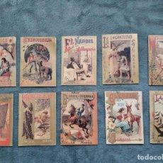 Libros de segunda mano: 10 FACSÍMILS CALLEJA / 7 X 10 CMS / CONTRACUBIERTA DECORADA. Lote 73537439