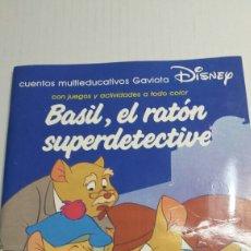 Libros de segunda mano: BASIL EL RATON SUPERDETECTIVE AÑO 1987 - DINEY EDUCATIVO. Lote 74328687