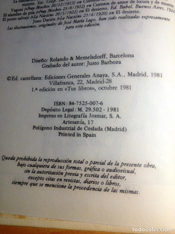 Libros de segunda mano: CUENTOS DE LA SELVA- Horacio Quiroga- Ediciones Generales Anaya- 1981 - Foto 2 - 74458467