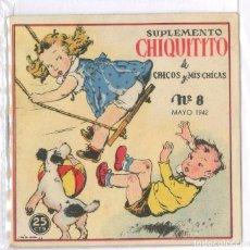 Libros de segunda mano: SUPLEMENTO CHIQUITIN N8 BARCELONA 1942. Lote 77581161