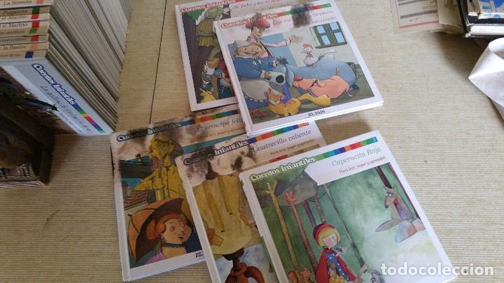 Libros de segunda mano: CUENTOS INFANTILES EL PAIS - LOTE CON PULGARCITO BELLA DURMIENTE PINOCHO CAPERUCITA Y MÁS - Foto 2 - 222094516