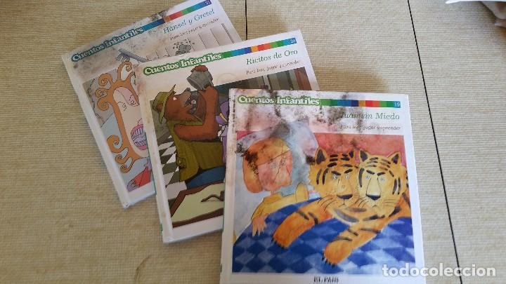 Libros de segunda mano: CUENTOS INFANTILES EL PAIS - LOTE CON PULGARCITO BELLA DURMIENTE PINOCHO CAPERUCITA Y MÁS - Foto 3 - 222094516