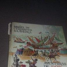 Libros de segunda mano: AVENTURAS DE DON QUIJOTE DE LA MANCHA. ILUSTRACIONES PERELLON. EDAF REF. 110. Lote 82285060