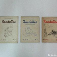 Libros de segunda mano: 3 CUADERNOS - RONDALLES Nº 2, 4 Y 5 - LLUIS G. CONSTANS, M.D. - PUBLICIDAD CHOCOLATES TORRAS. Lote 82617704