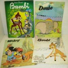 Libros de segunda mano: LOTE 4 CUENTOS WALT DISNEY AÑOS 60 Y 80,BAMBI, DUMBO,MICKEY, EDICIONES LAIDA Y MAVES. Lote 83504640