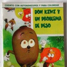 Libros de segunda mano: DON KIWI COLECCIÓN JUEGA CON FRUTAS AUTOADHESIVOS COLOREAR FAPA 1999 DIFICIL NUEVO. Lote 84951276
