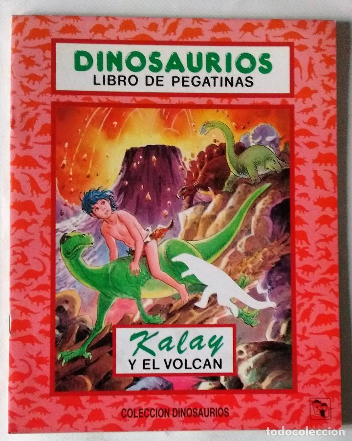 DINOSAURIOS LIBRO DE PEGATINAS ADHESIVOS SALDAÑA 1993 NUEVO (Libros de Segunda Mano - Literatura Infantil y Juvenil - Cuentos)