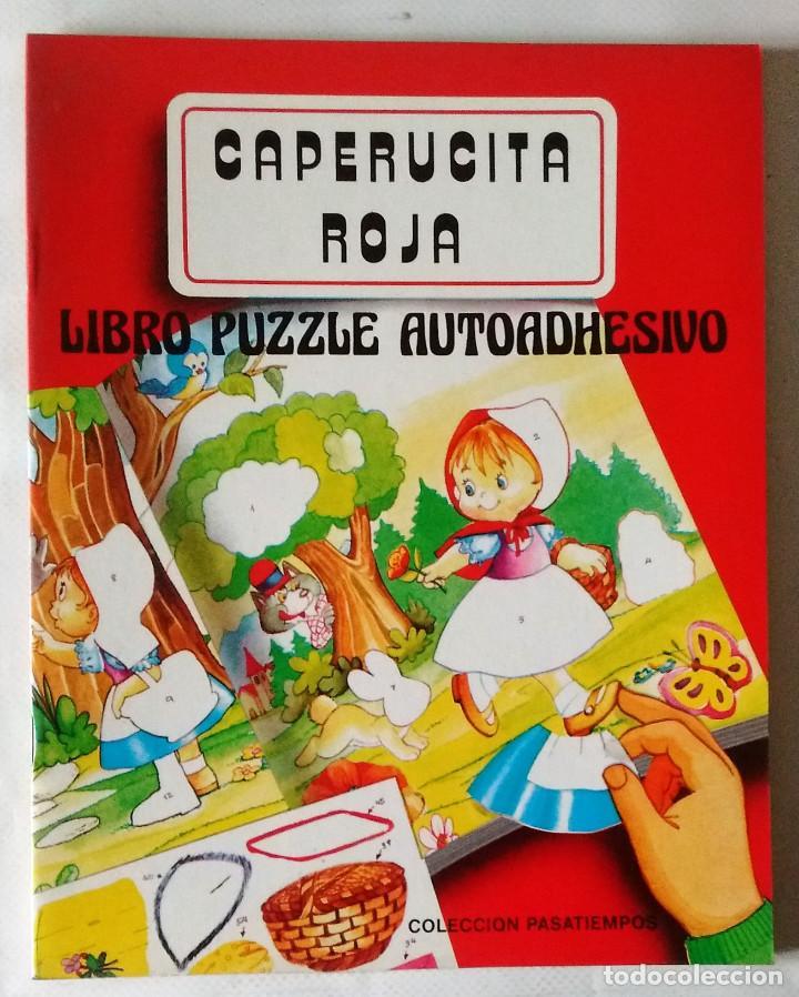 CAPERUCITA ROJA LIBRO PUZZLE AUTOADHESIVO SALDAÑA 1988 PRECIOSOS DIBUJOS NUEVO (Libros de Segunda Mano - Literatura Infantil y Juvenil - Cuentos)