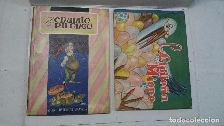 LOTE DE CUENTOS TROQUELADOS: EL ENANITO PILONGO (1948) - LA CIGÜEÑA MIOPE (1952) (Libros de Segunda Mano - Literatura Infantil y Juvenil - Cuentos)