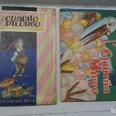 Libros de segunda mano: LOTE DE CUENTOS TROQUELADOS: EL ENANITO PILONGO (1948) - LA CIGÜEÑA MIOPE (1952). Lote 90533150
