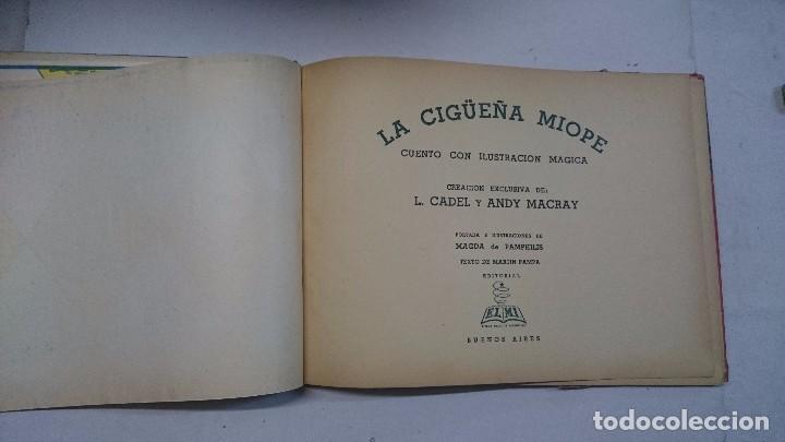 Libros de segunda mano: Lote de cuentos troquelados: El enanito pilongo (1948) - La cigüeña miope (1952) - Foto 3 - 90533150