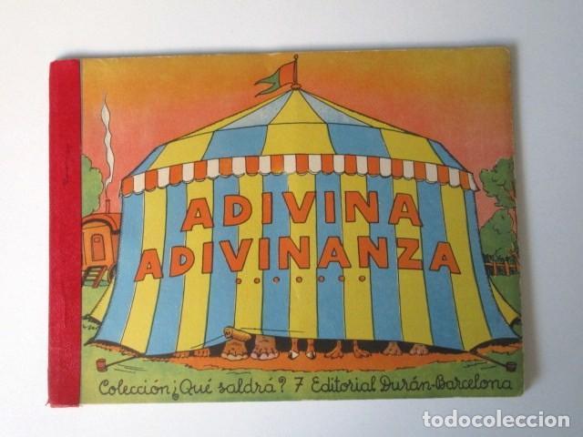 ANTIGUO CUENTO DESPLEGABLE CON SORPRESA ADIVINA ADIVINANZA, COLECCIÓN QUE SALDRÁ, 1948 (Libros de Segunda Mano - Literatura Infantil y Juvenil - Cuentos)