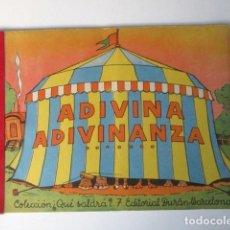 Libros de segunda mano: ANTIGUO CUENTO DESPLEGABLE CON SORPRESA ADIVINA ADIVINANZA, COLECCIÓN QUE SALDRÁ, 1948. Lote 90578685