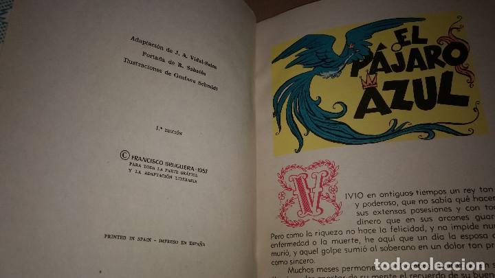 Libros de segunda mano: EL PAJARO AZUL COLECCION PARA LA INFANCIA BRUGUERA 1º EDI.1957 - Foto 2 - 91392875