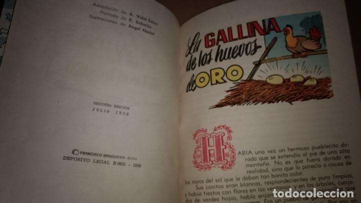 Libros de segunda mano: LA GALLINA DE LOS HUEVOS DE ORO COLECCION PARA LA INFANCIA BRUGUERA 2º EDI.1958 - Foto 2 - 91393135